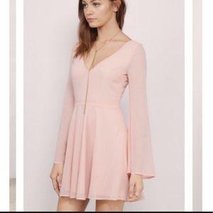 Tobi pink skater dress